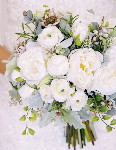 Faux Flower Peony Bouquet – image by Nadine Kemp Photography
