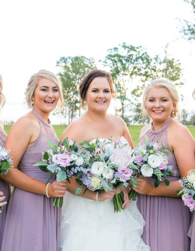 Lilac and white native Faux Flower Bouquets – image by Amy HInks Photography