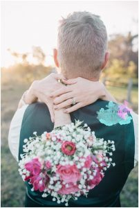 Rustic babies breath and pink bright bouquet