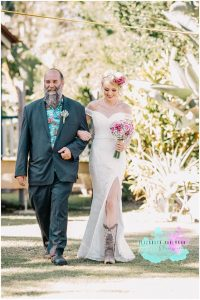 Cowboy boots and bridal gown