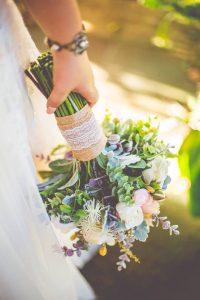 amazing details in faux flower bouquet