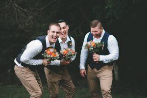 Native bouquets - groomsmen, faux flowers