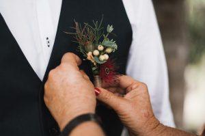 Native Buttonholes, boutonnieres faux flowers