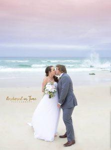 Beach Wedding faux flower bouquet
