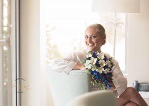 Beach Faux Flower Wedding Bouquet Frangipani & Orchids
