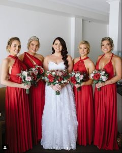 Red Bridesmaids, native flowers
