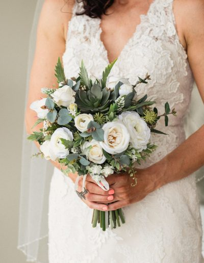 Vanilla Roses and Succulent Faux Flower Bouquet image by Luke Middlemiss Photography #bloominglovelybouquets