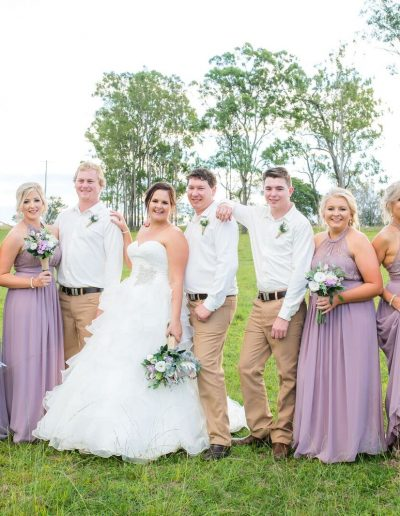 Country rustic wedding flowers - Lilac Bridesmaids - Faux Flower bouquets - image by Amy Hinks Photography