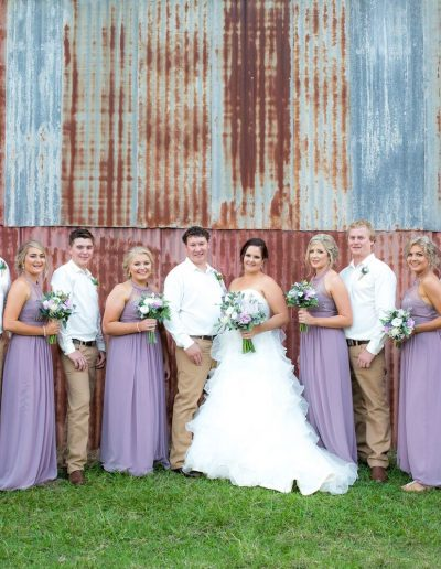 Country wedding flowers - Lilac Bridesmaids - Faux Flower bouquets - image by Amy Hinks Photography