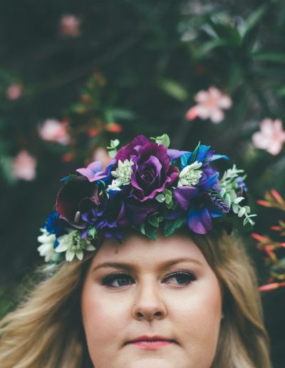 Purple flower crown, faux flower crown image by Ethereal Photography