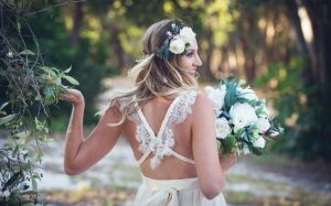 Flower crown- beach wedding faux flowers
