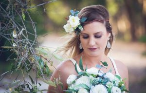 Flower crown- beach wedding faux flowers