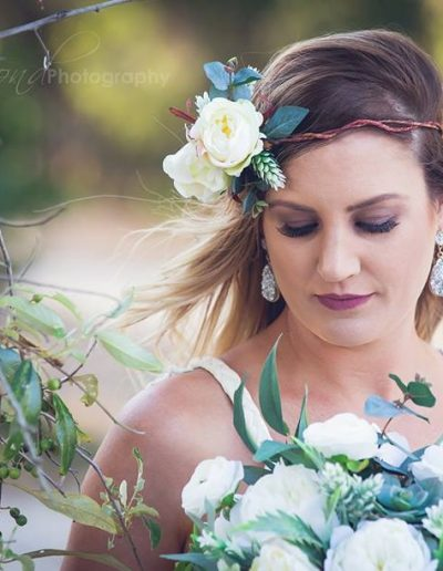 Flower crown- beach wedding faux flowers- image by Jo Hammond Photography #bloominglovelybouquets #sunshinecoastpopupweddings