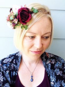 Burgundy Flower Crown Faux Flowers