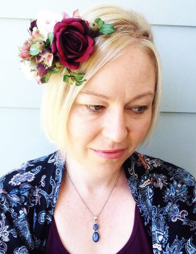 Burgundy Flower Crown Faux Flowers