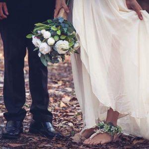 Floral Anklet - beach wedding