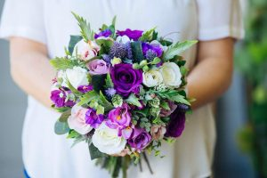 Ultra violet purple pink and white bouquet