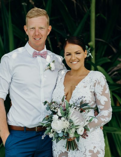 Native faux flower bouquet king protea image by Cloud Catcher Studio #bloominglovelybouquets #sunshinecoastpopupweddings