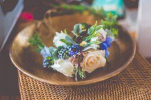 faux flower crown - rustic wedding