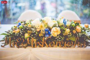 faux flower table arrangement- rustic wedding