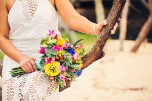 Bright Beach Fiesta wedding bouquet