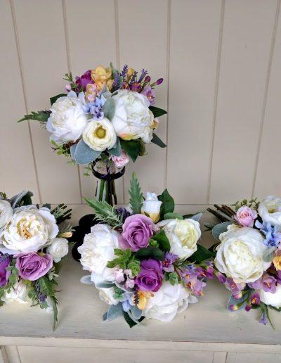 Pastel bouquets faux flowers