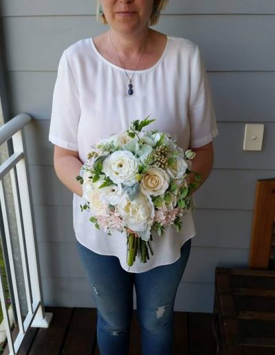 ivory and cream bouquet faux flowers