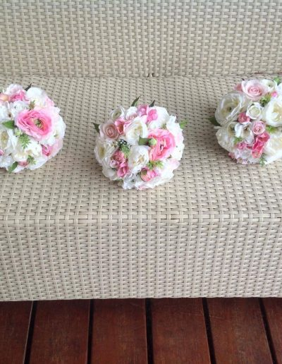 Faux Flower bouquet pink and white