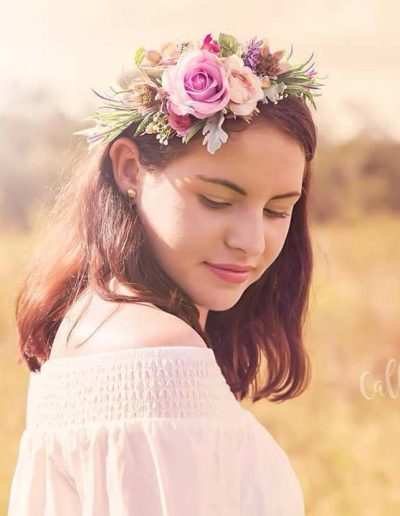 purple flower crown image by Callie Crawley Photography