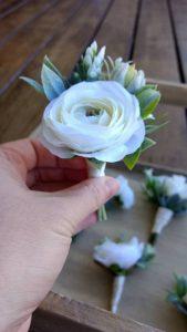 buttonhole faux ranunculus