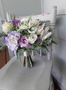 purple native bouquet faux flowers