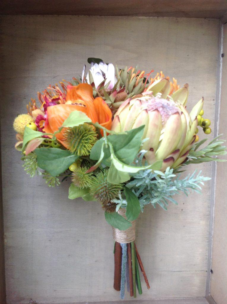 native faux flower maids bouquet