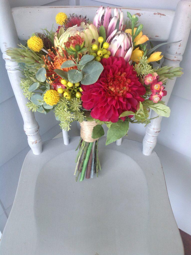 bright native bouquet - faux flowers