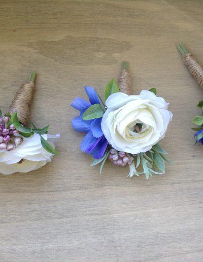 Blue pink buttonholes
