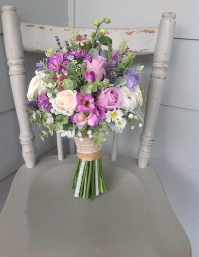 Purple spring floral bouquet