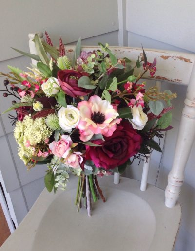 burgundy boho bouquet faux flowers #bloominglovelybouquets