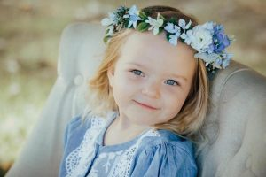 Blue faux flower crown