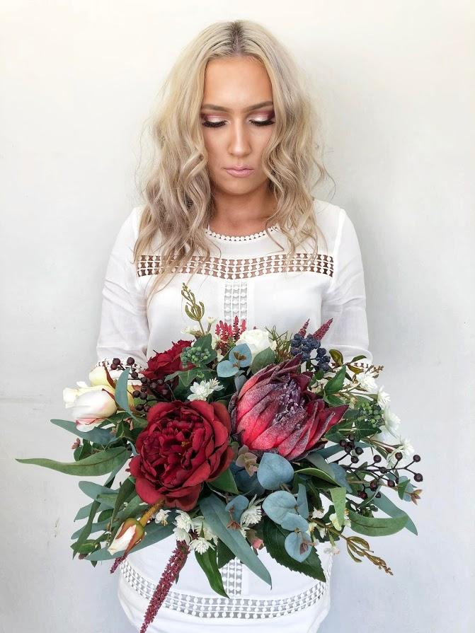 Boho Burgundy Bridal