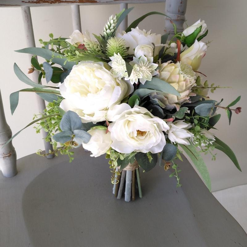 Wedding White Bouquet: Coastal White Bridal Bouquet