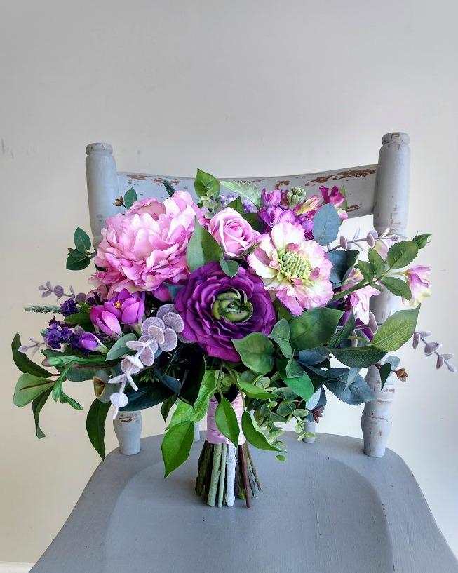 purple jewel toned garden style b