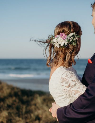 sunshine coast pop up weddings - faux floral hair comb