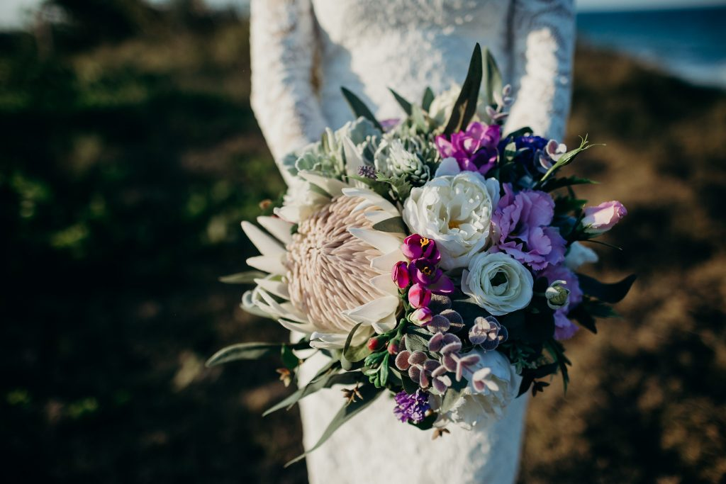 Native Bouquet with pops of Purple