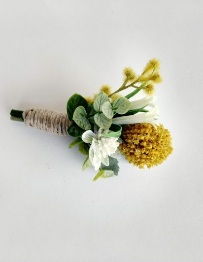 yellow rustic buttonhole