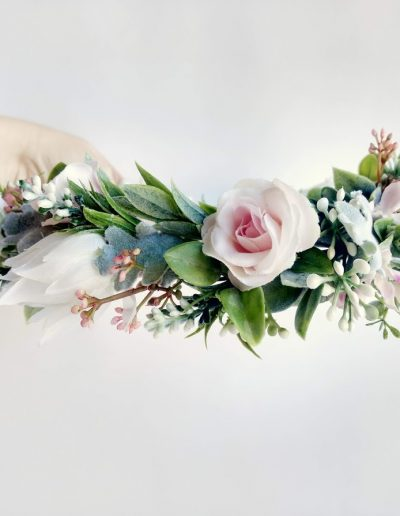 Blush Flower Crown Faux flowers