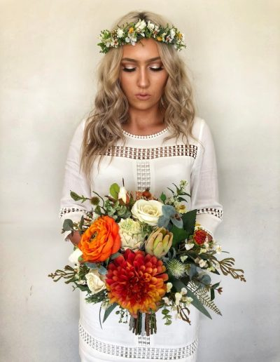 woodland crown and amber bouquet