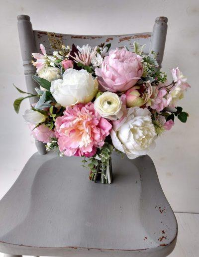 Blushing Pink Bridal Bouquet Faux Flowers