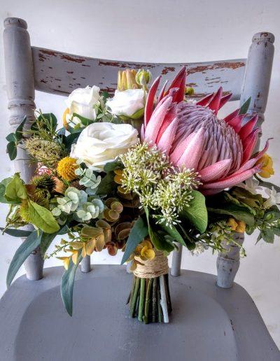 Native Amber Bridal Bouquet faux flowers