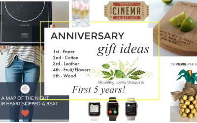 Cool Anniversary gift ideas for the first 5 years…