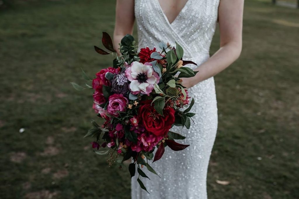 Moody Berry toned Faux Bouquet