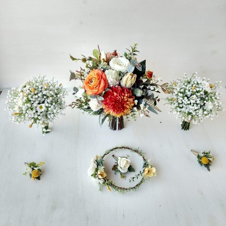 Autumnal Native Bouquet faux florals